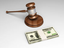 Auction. An auction (or court) hammer. 3D rendered Illustration Stock Images