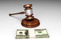 Auction. An auction (or court) hammer. 3D rendered Illustration Stock Photos