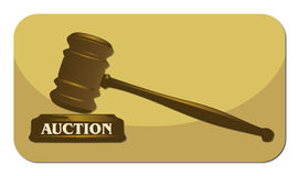 Auction. Icon with abstract background Stock Photos