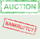 Auction Bankruptcy Vector Stamp Royalty Free Stock Image