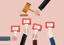 Auction and bidding concept Stock Photo
