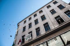 Auction of building at Paderewski 1 and the manifestation of the Stock Photography