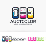 Auction Color  logo design Stock Photos