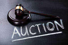 Auction Concept On Blackboard Royalty Free Stock Images