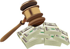 Auction court auction up Royalty Free Stock Photos
