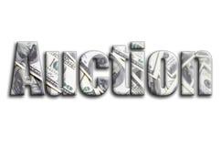 auction Die Aufschrift hat eine Beschaffenheit der Fotografie, die viele US-Dollar Rechnungen darstellt stockbilder