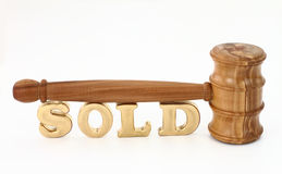 Auction gavel. Auction concept with wooden gavel Royalty Free Stock Images