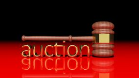 Auction gavel. Auction concept with wooden gavel Royalty Free Stock Photos