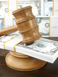 Auction gavel and dollars Royalty Free Stock Photography