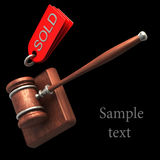 Auction gavel isolated on black Royalty Free Stock Images