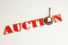 Auction gavel top Royalty Free Stock Images