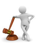 Auction gavel on white Stock Image
