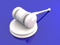 Auction Hammer. 3D rendered Illustration Stock Images