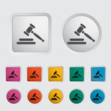 Auction icon Royalty Free Stock Photography