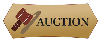 Auction icons stock illustration