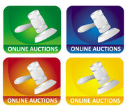 Auction icons Stock Photo