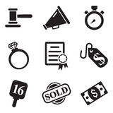 Auction Icons Stock Images