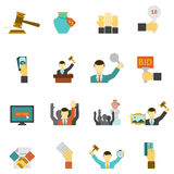 Auction Icons Set Royalty Free Stock Photography