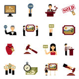 Auction Icons Set Stock Image