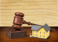 Auction. Law house residential structure legal system real estate gavel Royalty Free Stock Photos
