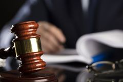 Auction. . Man with gavel during auction Stock Photo