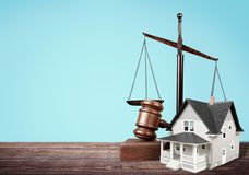Auction. Photography law  subprime loan crisis housing judgment Stock Image