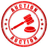 Auction Red Stamp Stock Images
