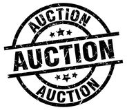 Auction stamp Stock Image