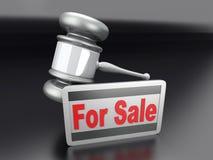 Auction sale. Symbol. 3D rendered illustration Stock Photos