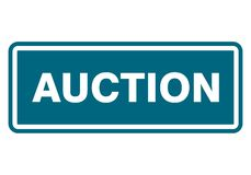 Auction sign, icon, stamp Stock Image