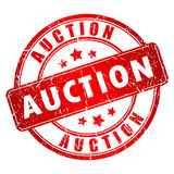 Auction Vector Stamp Royalty Free Stock Images