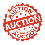 Auction vector stamp Stock Image