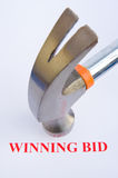 Auction; the winning bid. Stock Photography