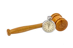 Auction wooden gavel Royalty Free Stock Images