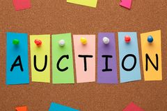 Auction Word Concept royalty free stock photo