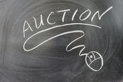Auction word Royalty Free Stock Photo