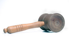 Auctioneers Gavel. Isolated image of Auctioneers Gavel stock photo