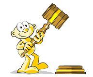Auctioneers hammer Royalty Free Stock Photo