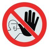 Aucun accès pour le signal d'avertissement impropre de personnes Photo libre de droits