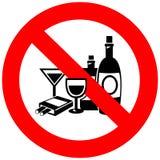 Aucun alcool et signe de tabagisme illustration de vecteur