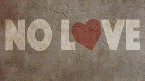 Aucun amour écrit sur un mur Photo stock