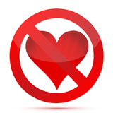 Aucun amour sur des Valentines illustration libre de droits