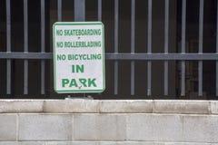 Aucun amusement en parc Images libres de droits