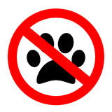 Aucun animaux familiers permis le signe de vecteur Photos stock