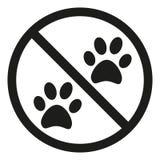 Aucun animaux permis le signe de silhouette Images libres de droits