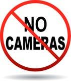 Aucun appareils-photo permis le signe illustration stock