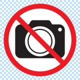 Aucun appareils-photo permis le signe Interdiction rouge aucun signe d'appareil-photo illustration de vecteur