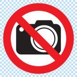 Aucun appareils-photo permis le signe Interdiction rouge aucun signe d'appareil-photo Aucune photos de prise, aucun signe de phot illustration de vecteur