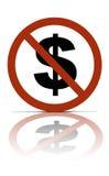 Aucun argent Image libre de droits