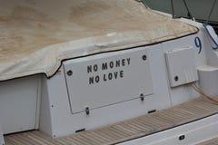 Aucun argent aucun amour Photo libre de droits
